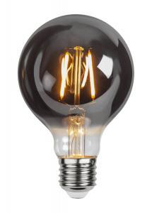 E27 Rökfärgad Glob80 1.8W 2100k 80lm LED-Lampa