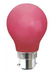 B22 Klot 0.9W  Röd LED-Lampa