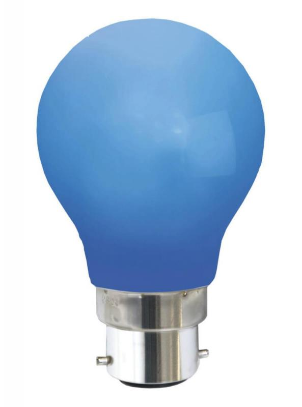 B22 Dekoration Party Klot 1.0W 6lm Blå LED-Lampa