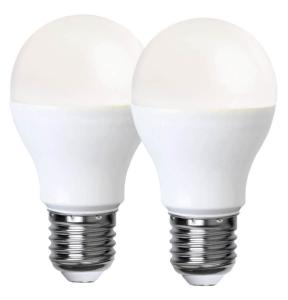 E27 2-pack Promo Normal 5W 3000K 470lm LED-Lampa