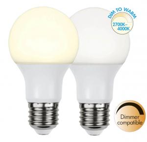 E27 Dim-To-Warm Normal 9W 4000 - 2700K 806lm LED-Lampa