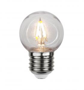 E27 PC Cover Klot 1.3W 2700K 130lm LED-Lampa