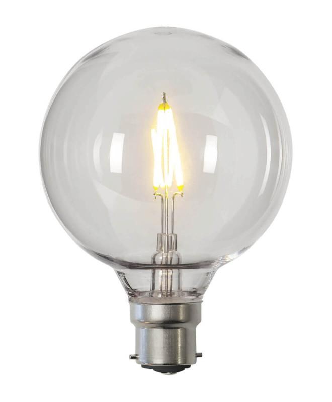 B22 PC Cover Glob95 0.6W 2700k 80lm LED-Lampa