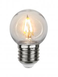 E27 Filament Klot 0.6W 2200k 70lm LED-Lampa