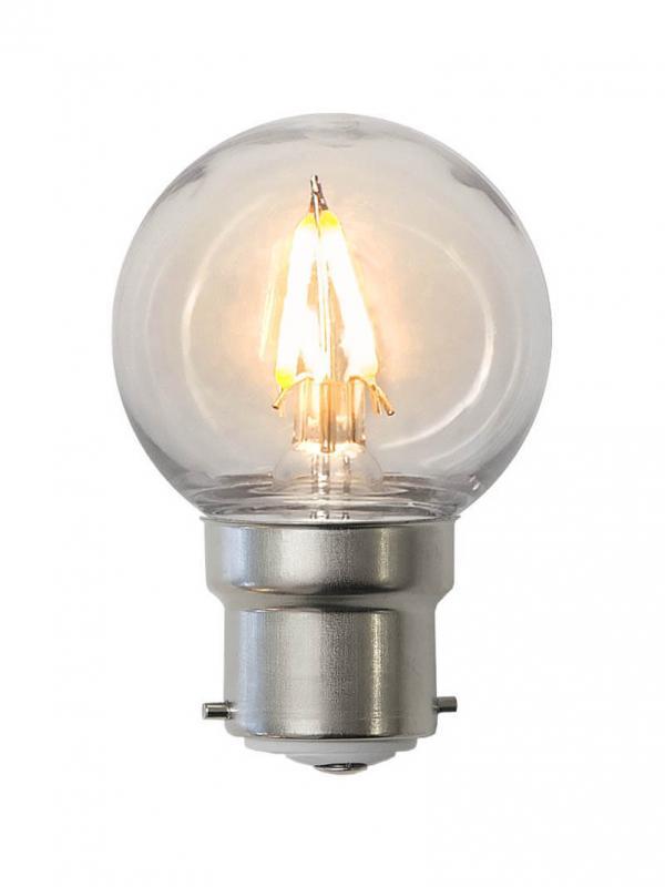 B22 PC Cover Klot 0.6W 2200k 70lm LED-Lampa
