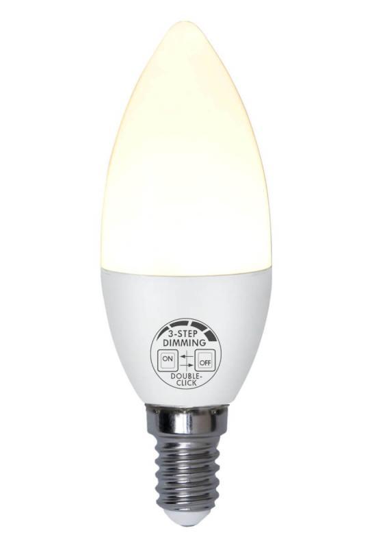 E14 Basic Kronljus 3-Stegs Dimbar 5W 2700k 360lm Opal LED-Lampa