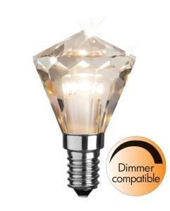E14 Diamant Dimbar 3W 2700K 270lm Klar LED-Lampa