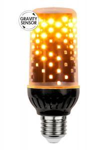 E27 Flame Lamp Sensor Tubural 1.8-2.6W 1800K 300lm LED-Lampa