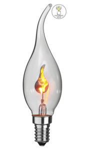 FLICKERING FLAME Klar Kronljus 11,5cm
