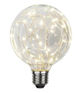 E27 Decoled Glob95 1.5W 2900K 45lm LED-Lampa