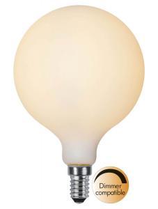 E14 Glob95 Opal 1.5W 2600k 120lm Dimbar LED-lampa