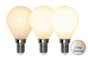E14 Opal 3-Stegs Dimmer Ra90 Klot 4W 2700k 380lm LED-Lampa