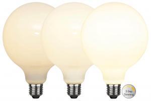 E27 Glob125 RA90 3-Stegs Dimbar 7.5W 2700K 800lm Opal LED-Lampa
