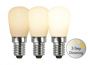 E14 Päron RA90 3-Stegs Dimbar 2W 2700K 150lm Opal LED-Lampa
