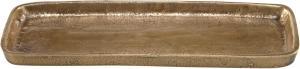 MIRAMAR PLATE Bordsdekoration 31x11cm Råmässing