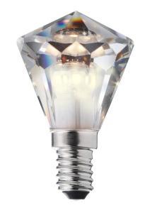 E14 Diamant Kristall Kallvit Dimbar 3,3W