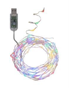 DEW DROP USB-Ljusslinga Extra 5m RGB/Silver