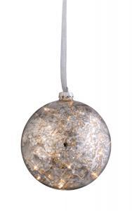 ARGENT Glaskula 15cm LED Silver