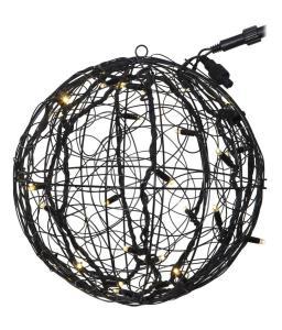 SYSTEM LED Utomhusdekoration Boll 35cm Svart