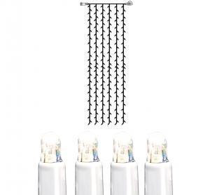 System LED Ljusgardin Extra 1x4m Kallvit