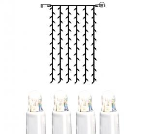 System LED Ljusgardin Extra 1x2m Kallvit/Vit