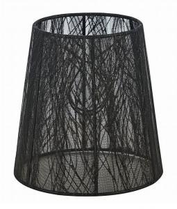 ORIVA Lampskärm Organza 14,5cm Svart mönster