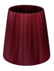 LAMPSKÄRM Organza 17cm Vinröd