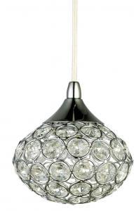 KOMET Fönsterlampa Kristall K9 12cm Krom