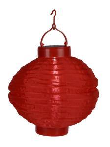 FESTIVAL Solcell Papperslykta 22cm Röd