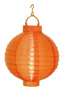 FESTIVAL Solcell Papperslykta 22cm Orange