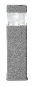 GRANIT Solcells-Pollare 37,5cm Grå