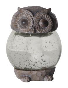 OWLY Solcells-Dekoration 13cm Grå