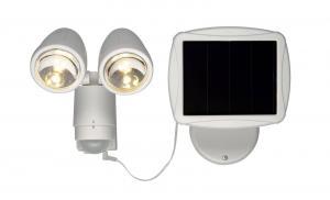 POWERSPOT Solcells-Spotlight 20cm Vit