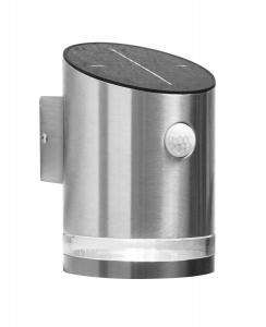 VENICE Solcells-Vägglykta 15cm Silver