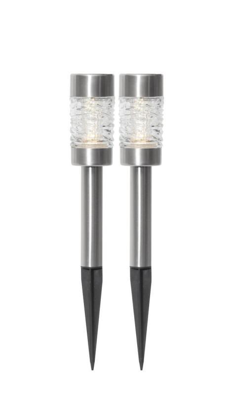 CAPRI 2-PACK Solcellslykta 27cm Rostfritt Stål IP44