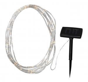 TUBE Solcells-Ljusslinga 0,5cm Transparent