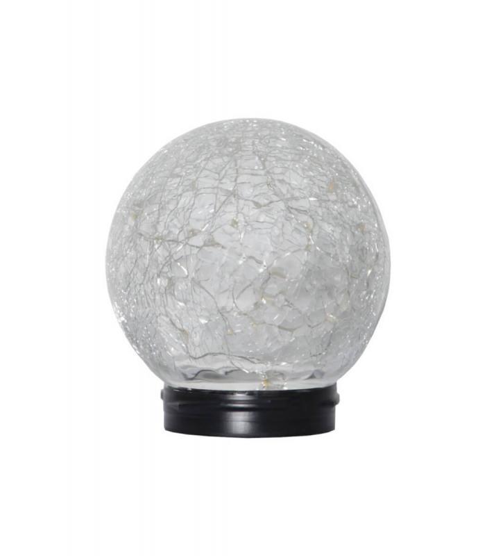 GLORY BORD Solcells-Lykta 13cm Transparent Släckt