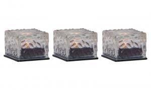 ICECUBE 3-Pack Solcellsljus 5,5cm Transparent IP44