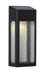WALLY Solcells-vägglykta 20cm Svart Varmvit IP44