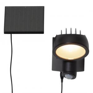 POWERSPOT Solcells-spotlight 19cm Svart Varmvit IP44