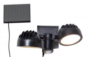 POWERSPOT Solcells-spotlight 14cm Svart Varmvit IP44