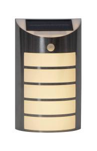 WALLY Vägglykta Solcell Sensor 26,5cm Silver