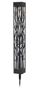 SIRANNA Solcells-pollare 66cm Svart