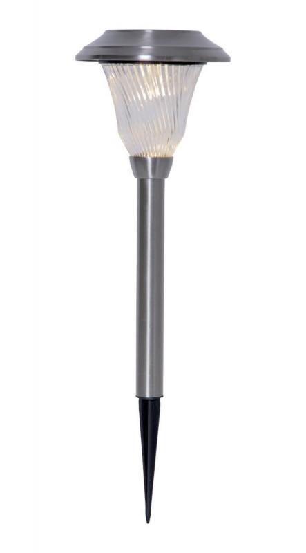 BARCELONA Solcells-pollare 41cm Silver