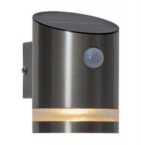 VENICINI Vägglykta Solcell Sensor 12,5cm Silver