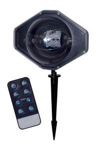 LED LIGHT RGB Snöflingor Projektor Fjärrkontroll IP44 Svart