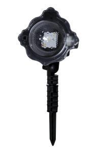 LED LIGHT Vita Snöflingor Projektorlampa IP44 Svart