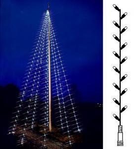 Flaggstångbelysning Reservslinga Kallvit Flagpole-Tree