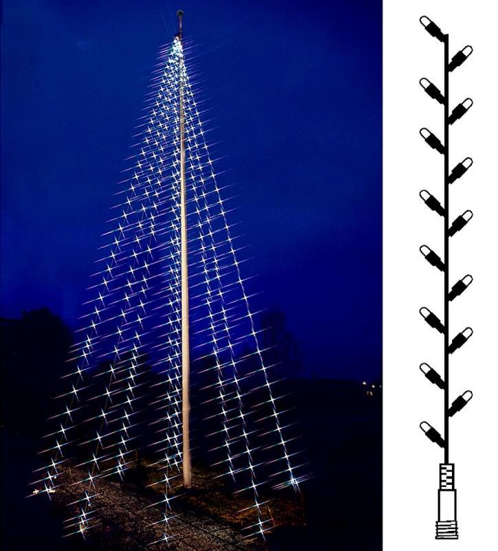 Flaggstångbelysning Reservslinga Varmvit & Kallvit Flagpole-Tree