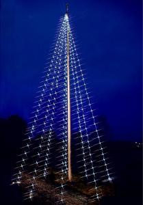 Flagpole-Tree Flaggstångsbelysning Svart